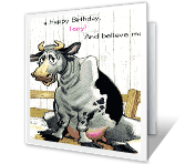 No Bull! happy birthday printable cards