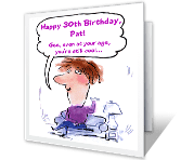 You're Still Cool 30th birthday printable cards