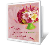 Glad We Work Together happy birthday printable cards
