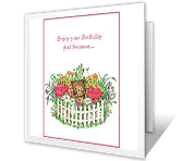 Enjoy Your Birthday Just Because happy birthday printable cards