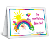 Rainbow Birthday Wishes happy birthday printable cards