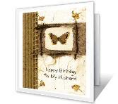 To My Husband happy birthday printable cards