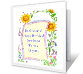 You're Loved, Grandma happy birthday printable cards