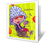 Relax and Enjoy, Grandma happy birthday printable cards
