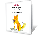 From the Dog happy birthday printable cards