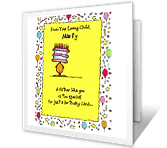 Keep the Envelope, Too happy birthday printable cards