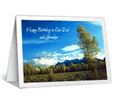 Our Dad and Grandpa happy birthday printable cards