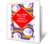 Have a Ball! happy birthday printable cards