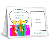 Super-Cool Party<br>Add-a-Photo happy birthday printable cards
