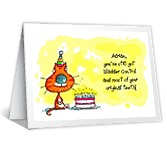 Getting Older! over the hill birthday printable cards