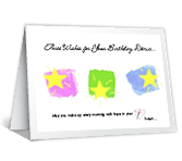 Hope, Peace, and a Smile happy birthday printable cards