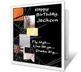Make It a Great Year! happy birthday printable cards
