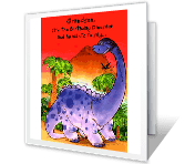The Birthday Dinosaur happy birthday printable cards