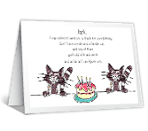 Your Check's in the Male happy birthday printable cards