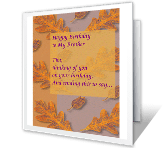Thinking of Brother happy birthday printable cards