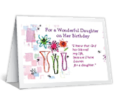Blessed Daughter happy birthday printable cards