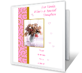 Wonderful Daughter happy birthday printable cards