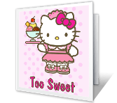 Too Sweet happy birthday printable cards