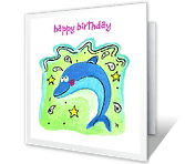 Make a Big Splash! happy birthday printable cards