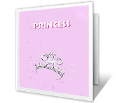 Princess happy birthday printable cards
