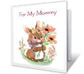 I Love You, Mommy happy birthday printable cards