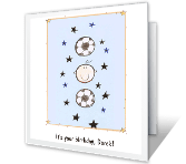 Soccer Fun happy birthday printable cards