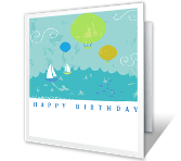 It's a Pleasure happy birthday printable cards