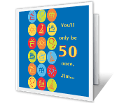 Forever Fun 50th birthday printable cards