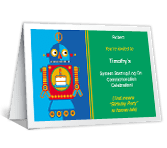 Robot Fun happy birthday printable cards