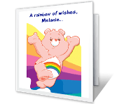 Rainbow Wishes happy birthday printable cards