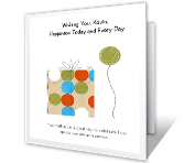 My Special Brother happy birthday printable cards