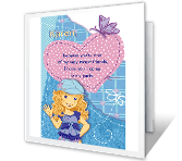 Happy Birthday Printable Cards - Hope You Can Come