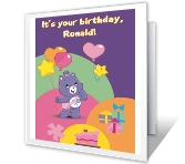 Shoot for the Stars happy birthday printable cards
