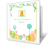 Balloon Invitation happy birthday printable cards
