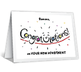 New Apartment congratulations printable cards