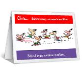 Behind Every Success congratulations printable cards