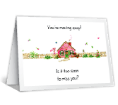 I Miss You Already! good luck printable cards