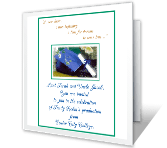 Celebrating a<br>New Beginning graduation printable cards