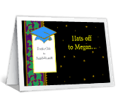 Hats Off<br>Add-a-Photo graduation printable cards