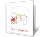 Sleepover Party sleepover printable cards