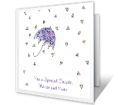 Wishes to Special Couple bridal shower printable cards