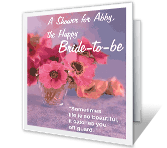 Happy Bride-to-be bridal shower printable cards