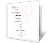 Two Hearts, Two Souls wedding printable cards