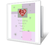 Happiness Always engagement printable cards