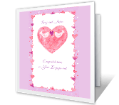 Wishes for Your Happiness engagement printable cards