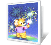 Sparkling with Fun 4th of july printable cards