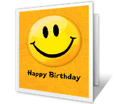 A Happy Face Birthday happy birthday printable cards