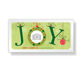 JOY<br>4 x 8 photo card christmas printable cards