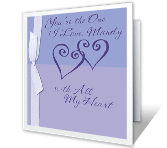 Happy Anniversary<br>to the One I Love happy anniversary printable cards