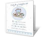 It's a Boy! baby shower printable cards